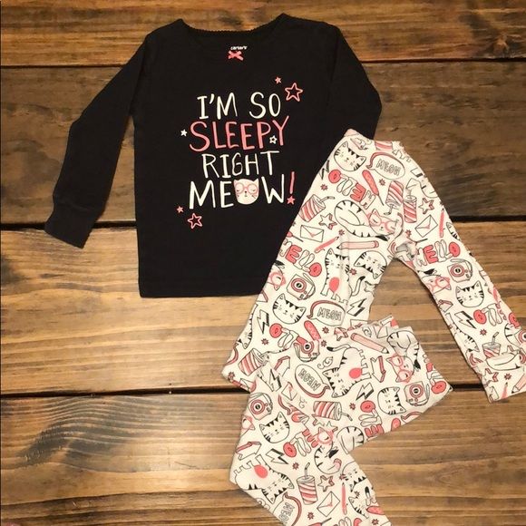 6 7 8 10 12 New Carter/'s 4-Piece I/'m So Sleepy Right Meow Pajama Set